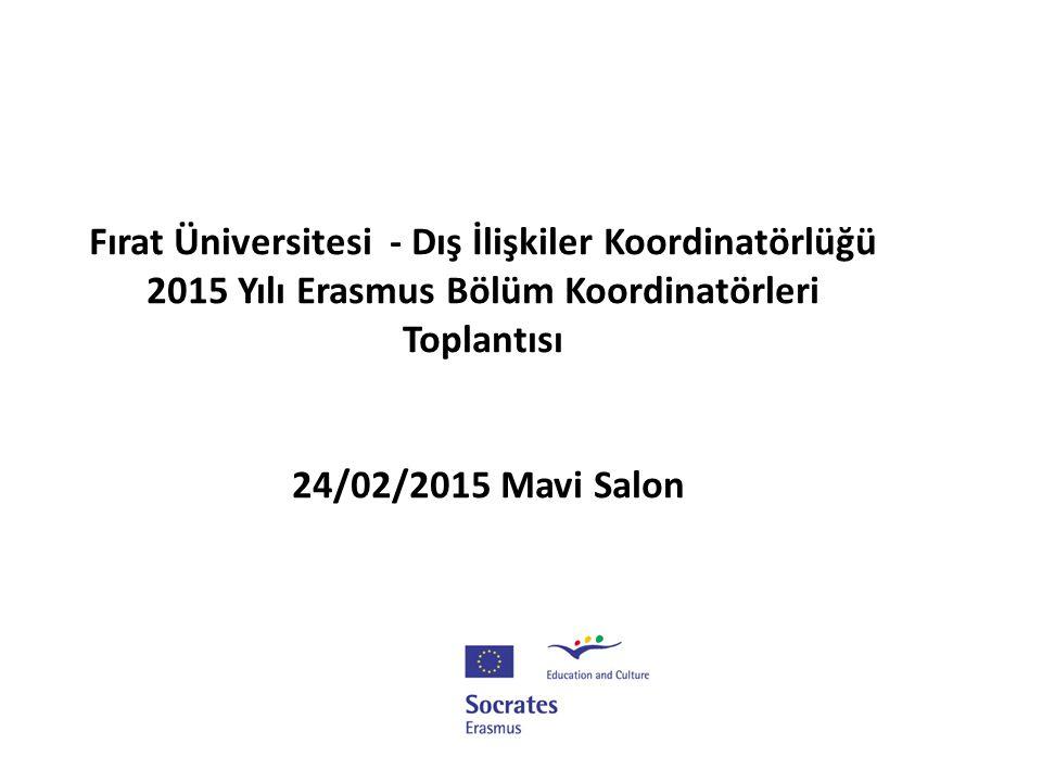 Başlarken… Erasmus Hareketliliği üniversitemizde tabana yayılan bir faaliyettir.