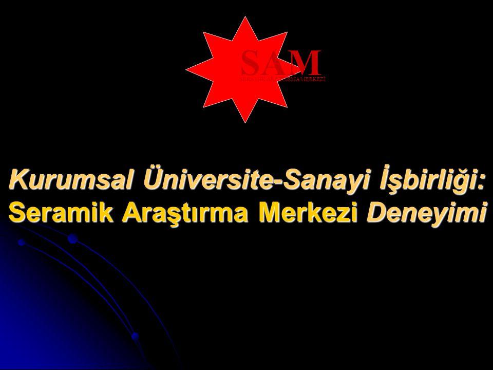 Kurumsal Üniversite-Sanayi İşbirliği: Seramik Araştırma Merkezi Deneyimi SAM SERAMİK ARAŞTIRMA MERKEZİ