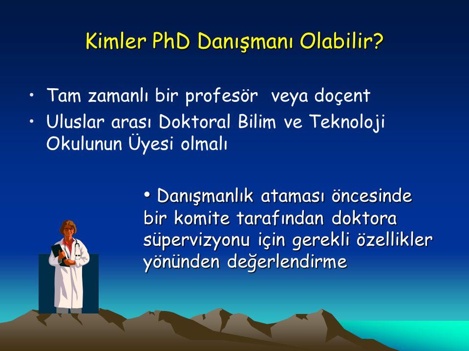 Kimler PhD Danışmanı Olabilir.