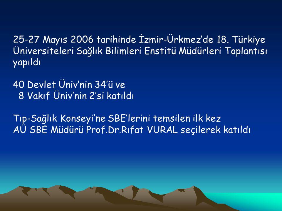 25-27 Mayıs 2006 tarihinde İzmir-Ürkmez'de 18.
