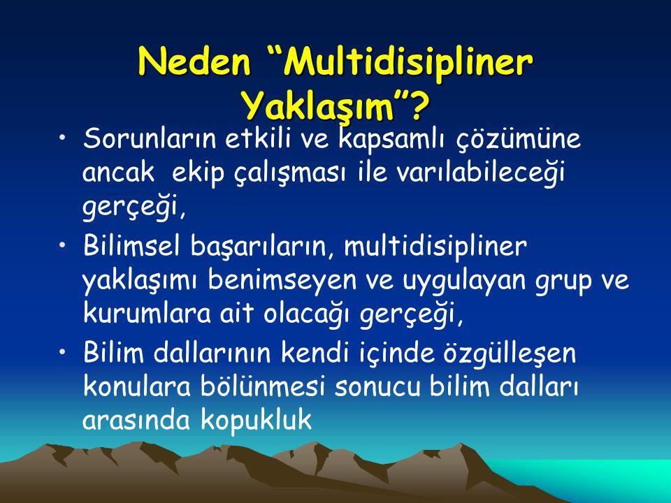 Neden Multidisipliner Yaklaşım .