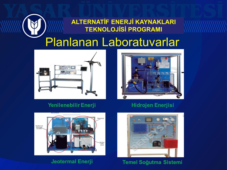 Planlanan Laboratuvarlar Hidrojen Enerjisi ALTERNATİF ENERJİ KAYNAKLARI TEKNOLOJİSİ PROGRAMI Yenilenebilir Enerji Jeotermal Enerji Temel Soğutma Siste