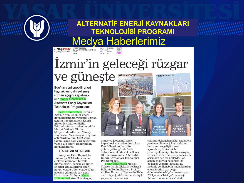 ALTERNATİF ENERJİ KAYNAKLARI TEKNOLOJİSİ PROGRAMI