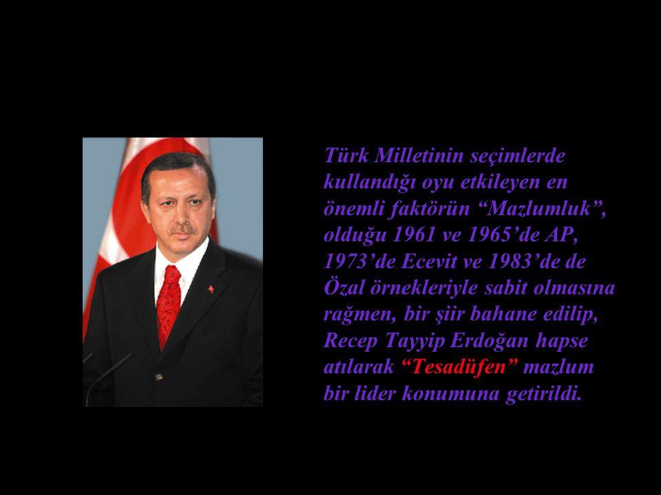 """Erbakan'a Siyaset Yasağı Tesadüfen getirildi. Recep Tayyip Erdoğan'a Liderlik yolu """"tesadüfen"""" açıldı"""