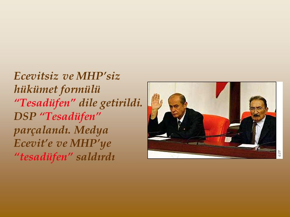 Türk Milletinin seçimlerde kullandığı oyu etkileyen en önemli faktörün Mazlumluk , olduğu 1961 ve 1965'de AP, 1973'de Ecevit ve 1983'de de Özal örnekleriyle sabit olmasına rağmen, bir şiir bahane edilip, Recep Tayyip Erdoğan hapse atılarak Tesadüfen mazlum bir lider konumuna getirildi.
