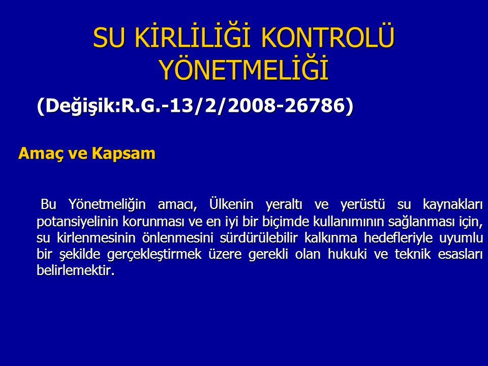 SU KAYNAKLARI YÖNETİMİ GÖREV- SORUMLULUK İLGİLİ KURULUŞ YASAL DAYANAK YETKİ Kanalizasyon ve arıtma yapım tesisi ve işletmesi Büyükşehir belediye sınırları içerisinde büyükşehir belediyeleri ve su kanalizasyon idareleri 5216 sayılı Büyükşehir belediye kanunu Diğer belediyelerde 1580 sayılı Belediyeler Kanunun İller Bankası Genel Müdürlüğü Protokolde DSİ tarafındandevredilmiş tri.) 6200 sayılı DSİ Genel Müdürlüğünün Teşkilat ve Vazifeleri Hk.