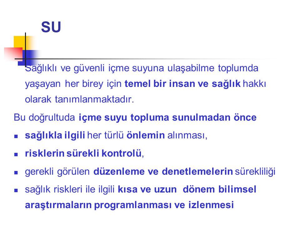 MİKROBİYOLOJİK PARAMETRELER SORUN Anlamı ve Kaynağı P.