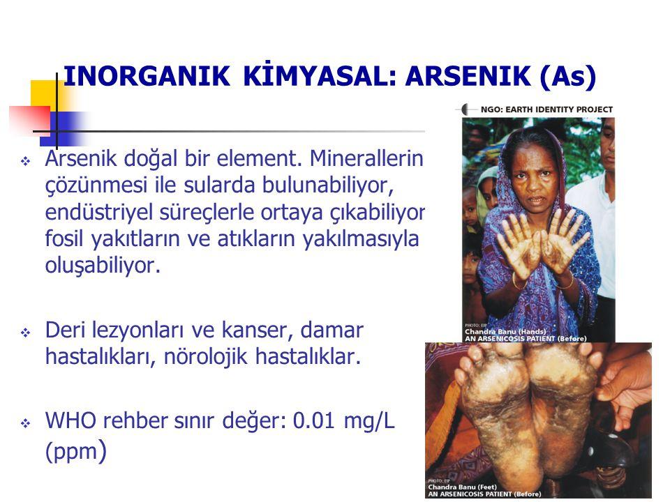  Arsenik doğal bir element. Minerallerin çözünmesi ile sularda bulunabiliyor, endüstriyel süreçlerle ortaya çıkabiliyor, fosil yakıtların ve atıkları