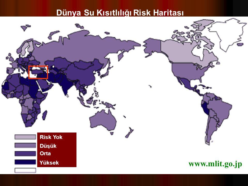 36 Risk Yok Düşük Orta Yüksek Veri Yok Dünya Su Kısıtlılığı Risk Haritası www.mlit.go.jp