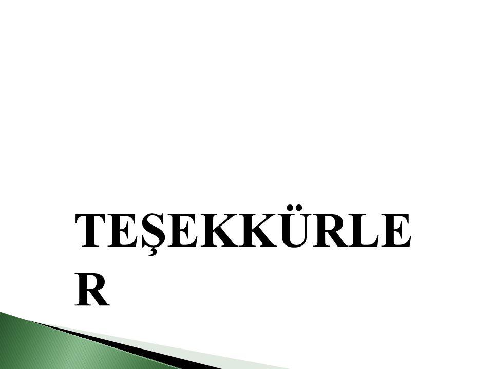 TEŞEKKÜRLE R