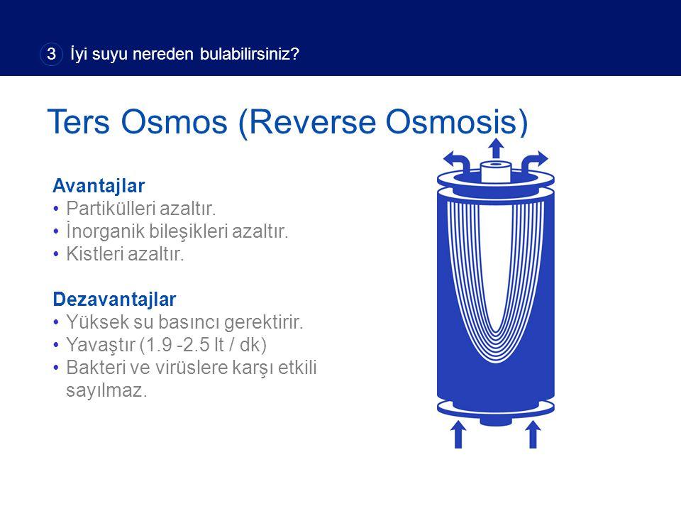 Avantajlar Partikülleri azaltır. İnorganik bileşikleri azaltır. Kistleri azaltır. Dezavantajlar Yüksek su basıncı gerektirir. Yavaştır (1.9 -2.5 lt /