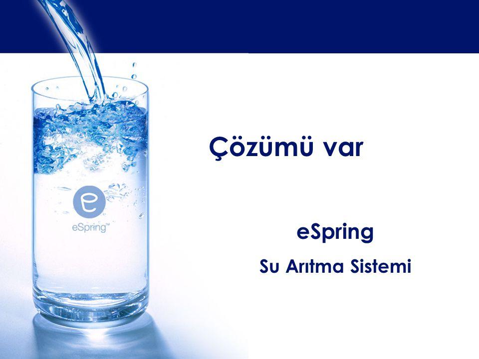 eSpring Su Arıtma Sistemi Çözümü var