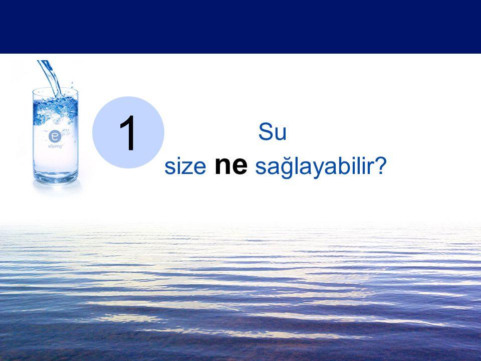 Su size ne sağlayabilir? 1