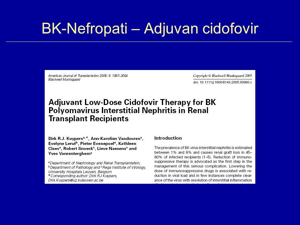 BK-Nefropati – Adjuvan cidofovir