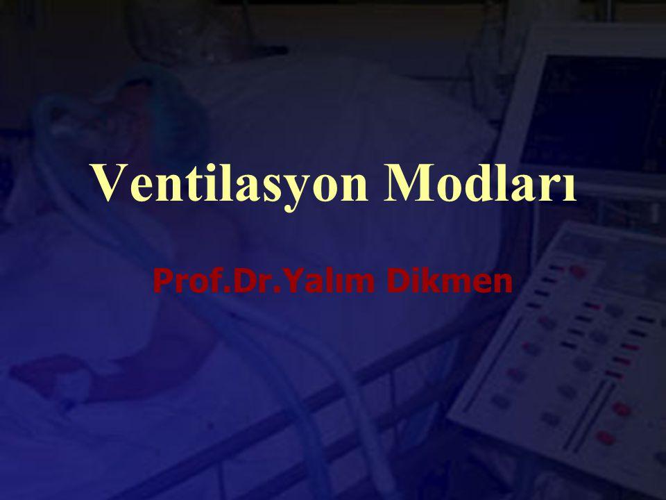 Ventilasyon Modları Prof.Dr.Yalım Dikmen