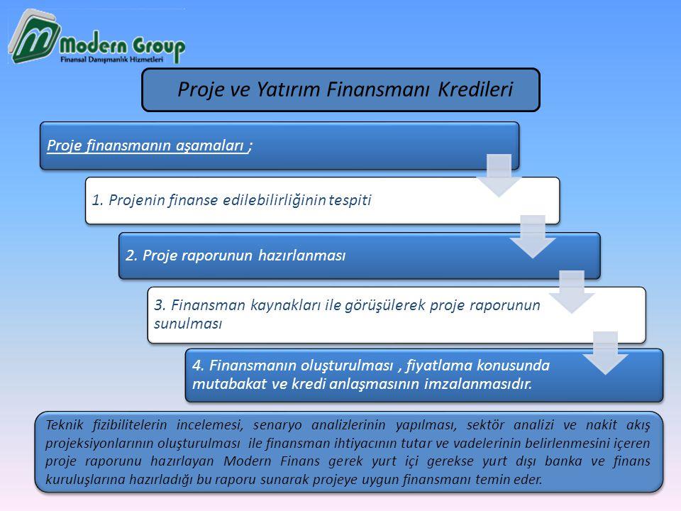 Proje finansmanın aşamaları ; 1. Projenin finanse edilebilirliğinin tespiti 2. Proje raporunun hazırlanması 3. Finansman kaynakları ile görüşülerek pr