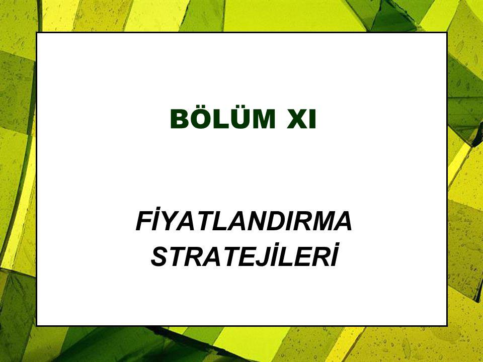 BÖLÜM XI FİYATLANDIRMA STRATEJİLERİ
