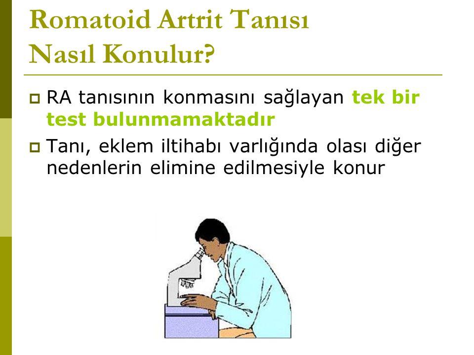 Romatoid Artrit Tanısı Nasıl Konulur.