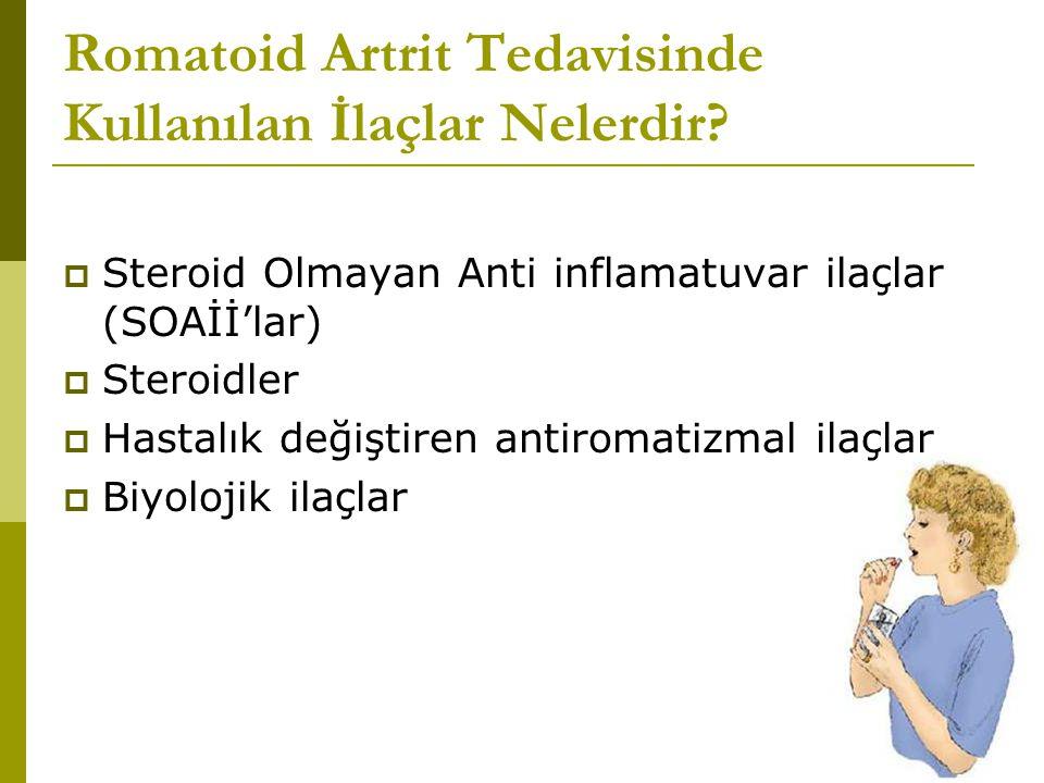 Romatoid Artrit Tedavisinde Kullanılan İlaçlar Nelerdir.