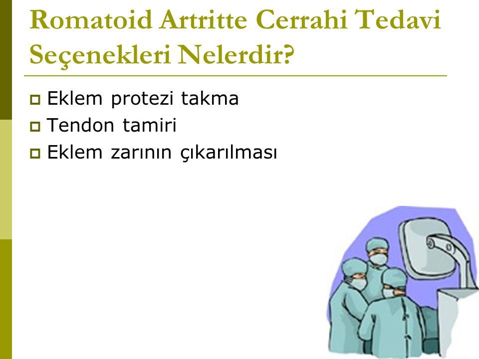 Romatoid Artritte Cerrahi Tedavi Seçenekleri Nelerdir.
