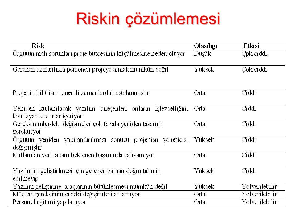 Riskin çözümlemesi