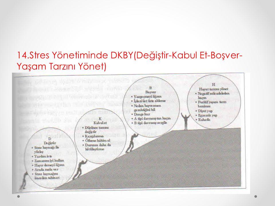 14.Stres Yönetiminde DKBY(Değiştir-Kabul Et-Boşver- Yaşam Tarzını Yönet)