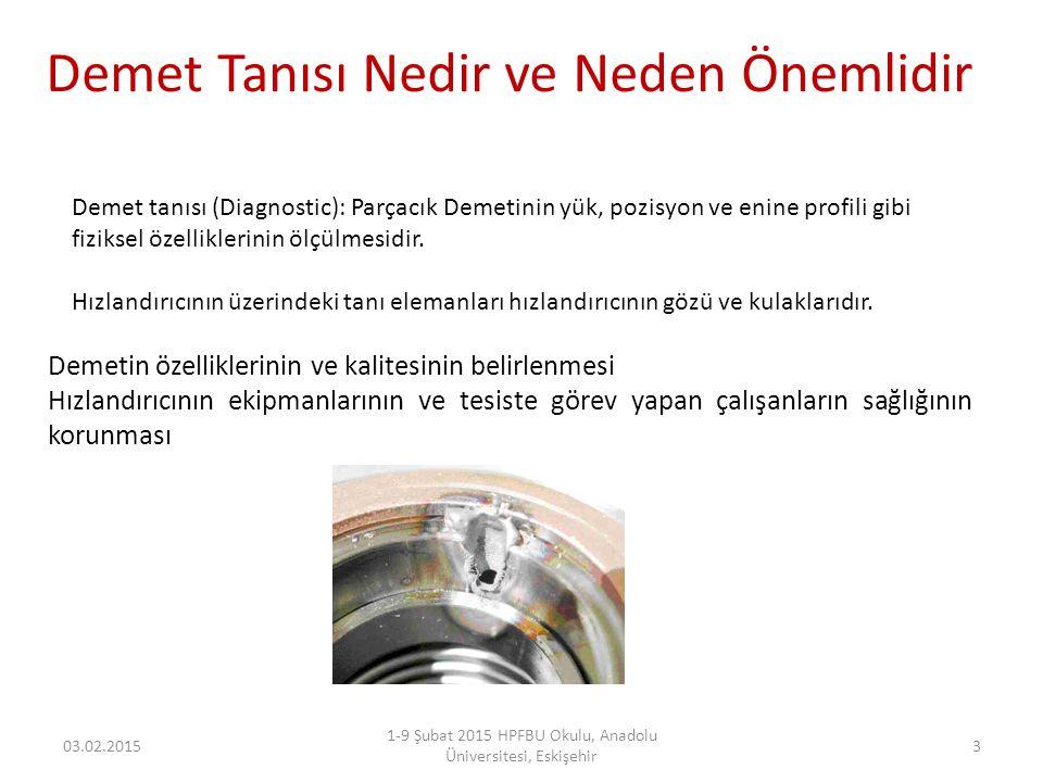 Demet Tanısı Nedir ve Neden Önemlidir 03.02.2015 1-9 Şubat 2015 HPFBU Okulu, Anadolu Üniversitesi, Eskişehir 3 Demetin özelliklerinin ve kalitesinin b