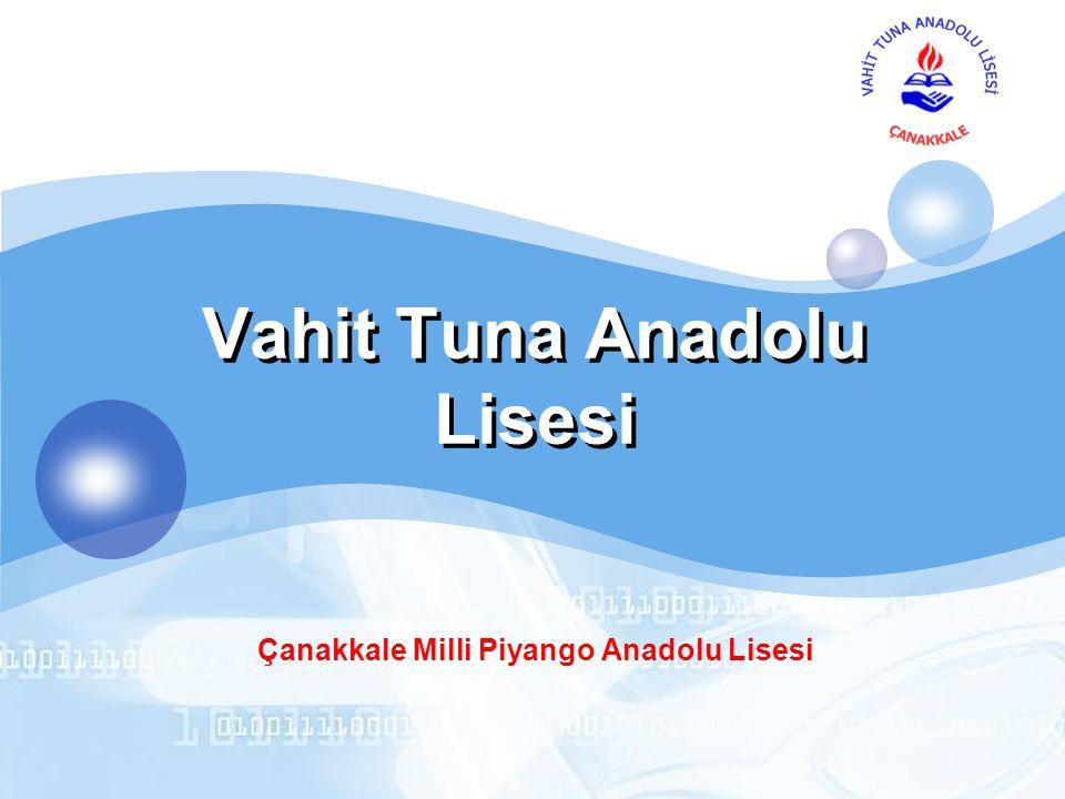 LOGO Vahit Tuna Anadolu Lisesi Çanakkale Milli Piyango Anadolu Lisesi