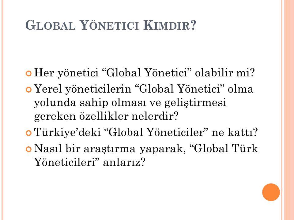 """G LOBAL Y ÖNETICI K IMDIR ? Her yönetici """"Global Yönetici"""" olabilir mi? Yerel yöneticilerin """"Global Yönetici"""" olma yolunda sahip olması ve geliştirmes"""
