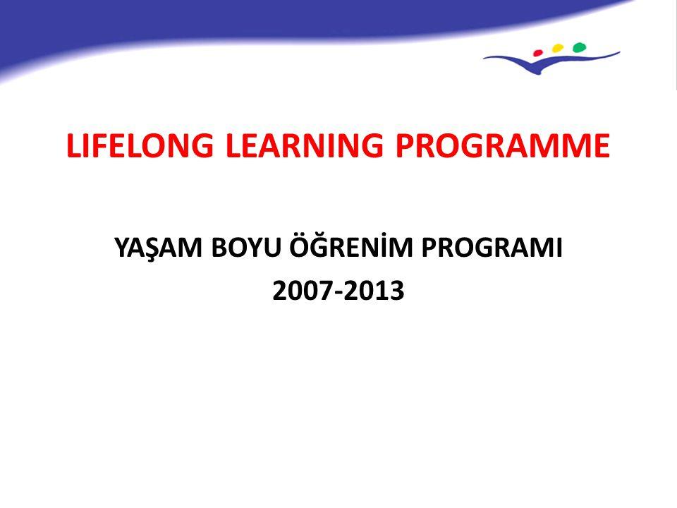 LIFELONG LEARNING PROGRAMME YAŞAM BOYU ÖĞRENİM PROGRAMI 2007-2013