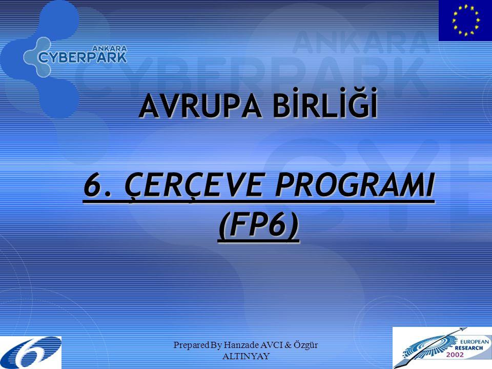Prepared By Hanzade AVCI & Özgür ALTINYAY AVRUPA BİRLİĞİ 6. ÇERÇEVE PROGRAMI (FP6)