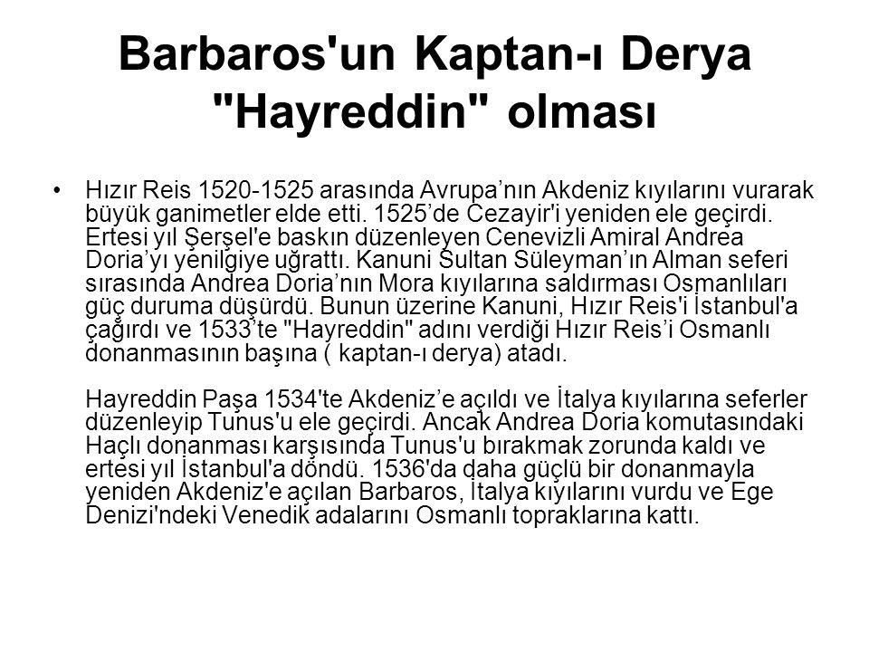 Barbaros'un Kaptan-ı Derya