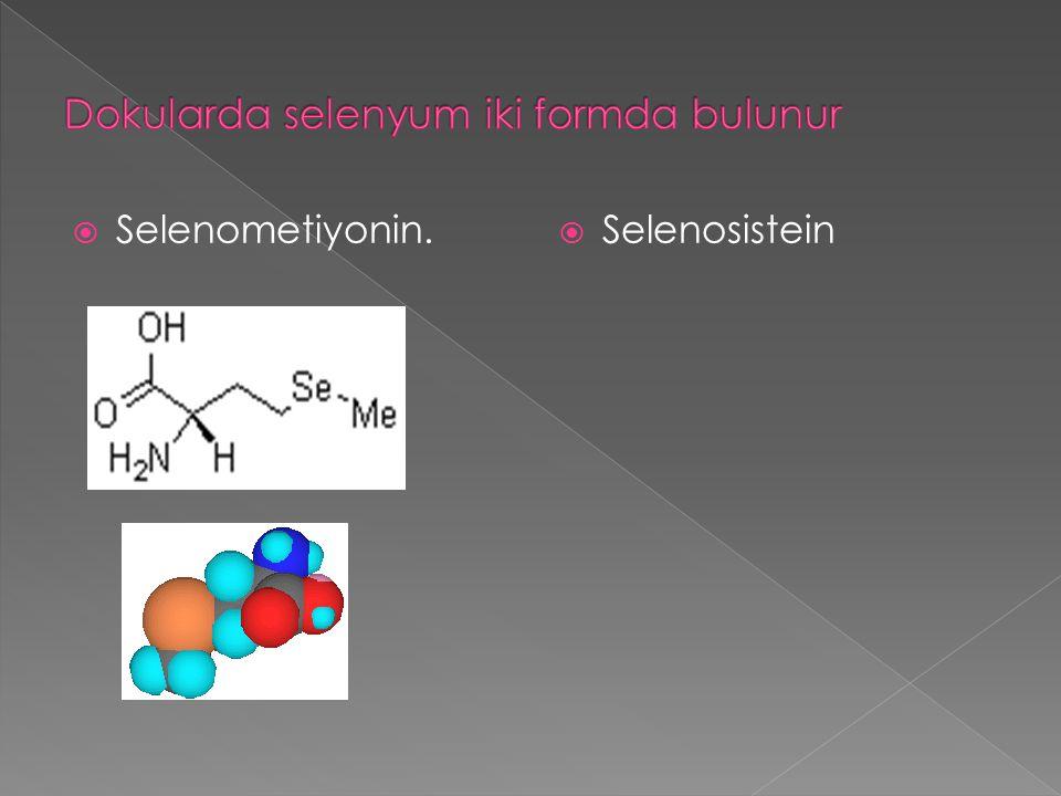  Selenometiyonin.  Selenosistein