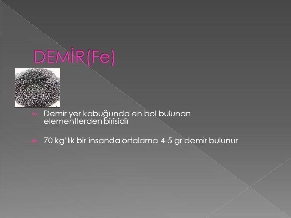 A N E M İ MCV ≤ 82 FERRİTİN DÜŞÜK Demir Eksikliği Anemisi NORMAL Yüksek YÜKSEK Normal Düşük Periferik Yayma Hb Elektroforezi N FERRİTİN Demir Eksikliği Anemisi Talasemi Minör Kronik Hastalık Anemisi HEMOGLOBİN ♂ ≤ 13g/dl ♀ ≤ 12 g/dl