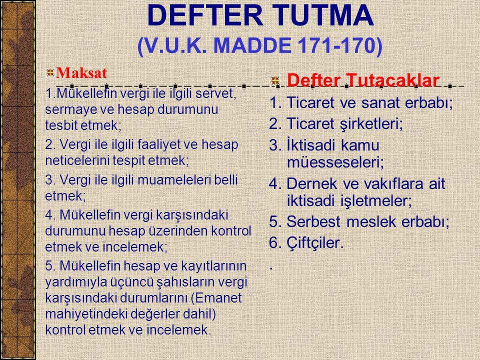 DEFTER TUTMA (V.U.K.