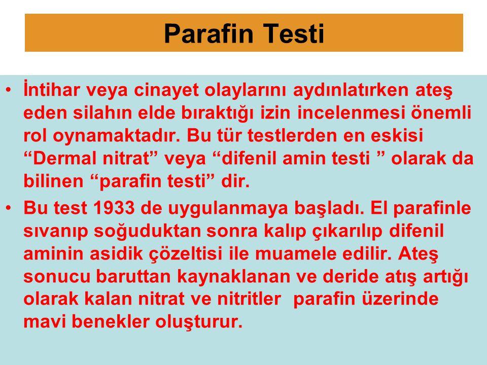 Bu test nitrat ve nitritin çevremizde yaygın olarak bulunması nedeniyle ateş etmeyen kişilerin ellerinde de pozitif sonuçlar vermiştir.