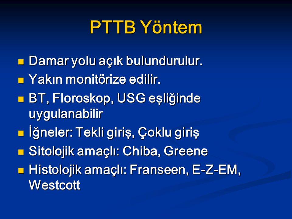 PTTB Yöntem Damar yolu açık bulundurulur.Damar yolu açık bulundurulur.