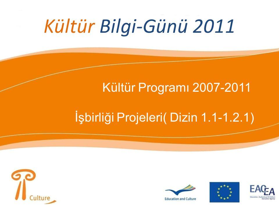 Kültür Bilgi-Günü 2011 Kültür Programı 2007-2011 İşbirliği Projeleri( Dizin 1.1-1.2.1)