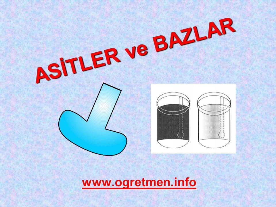 ASİTLER ve BAZLAR www.ogretmen.info