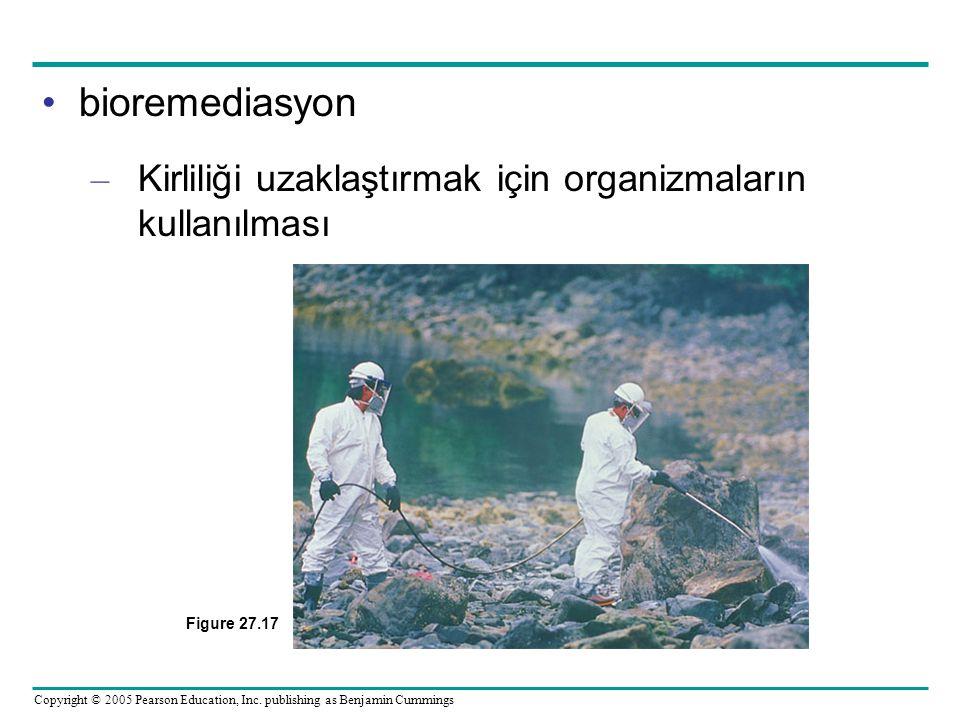 Copyright © 2005 Pearson Education, Inc. publishing as Benjamin Cummings bioremediasyon – Kirliliği uzaklaştırmak için organizmaların kullanılması Fig