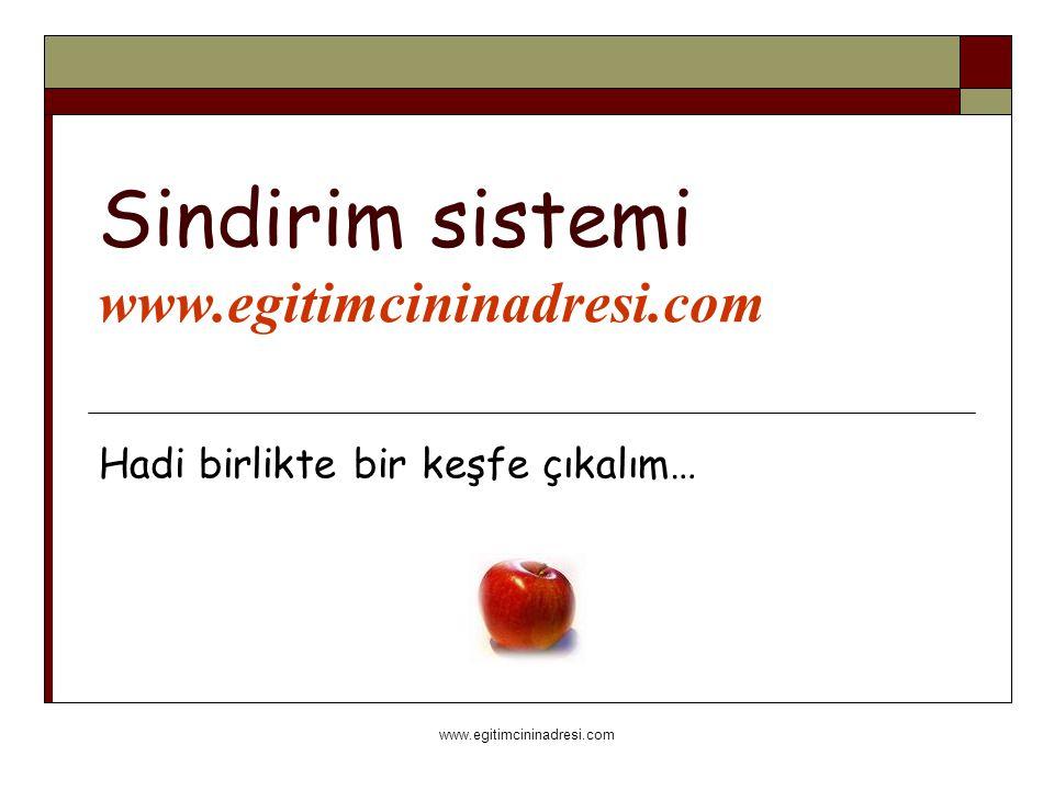 www.egitimcininadresi.com Sindirim sistemi www.egitimcininadresi.com Hadi birlikte bir keşfe çıkalım…