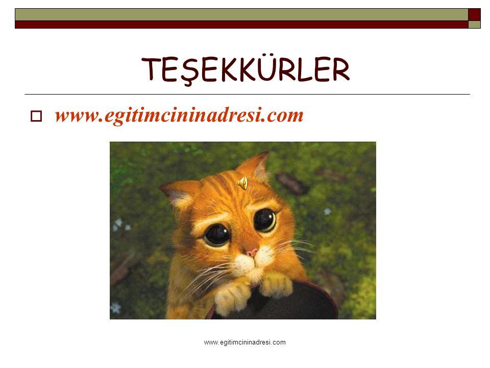 TEŞEKKÜRLER  www.egitimcininadresi.com www.egitimcininadresi.com