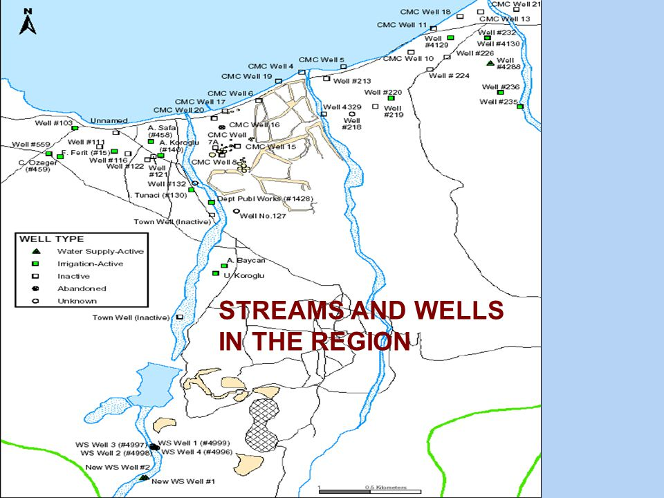 STREAMS AND WELLS IN THE REGION
