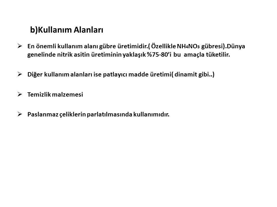 3) Hidroklorik Asit (HCl) a)Özellikleri  Formülü : HCl 'dir, geleneksel adı TUZ RUHU dur.