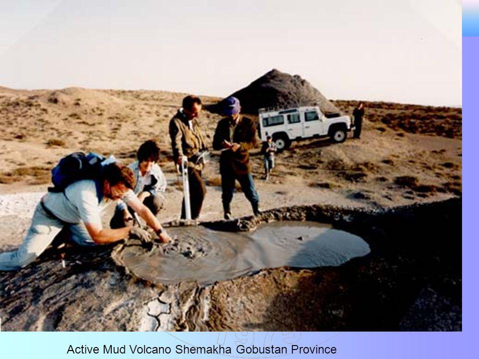 Active Mud Volcano Shemakha Gobustan Province