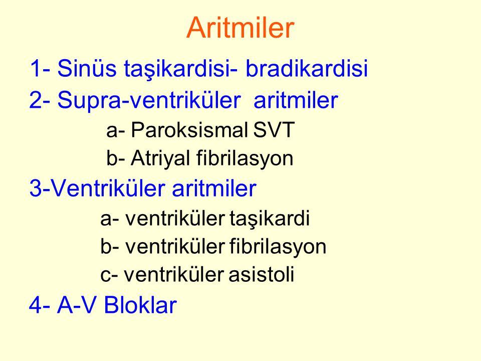 E LEKTRIKSEL Ş OK Kardiyoversiyon(senkron) SVT(50-100j) AFibrilasyon(200j) VT(100-200 j) Defibrilasyon(asenkron) V.Fibrilasyon(360 j)