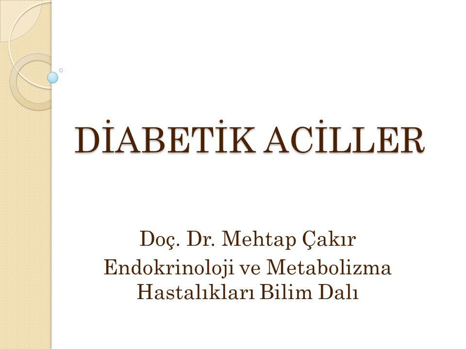 DİABETİK ACİLLER Doç. Dr. Mehtap Çakır Endokrinoloji ve Metabolizma Hastalıkları Bilim Dalı