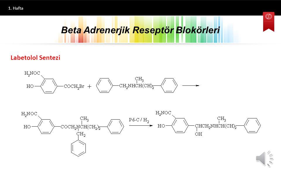 1. Hafta Beta Blokörlere Ait Genel Sentez Yöntemleri Beta Adrenerjik Reseptör Blokörleri Fenolik Bileşik Epiklorohidrin 1-Ariloksi-3-kloro-2-propanol