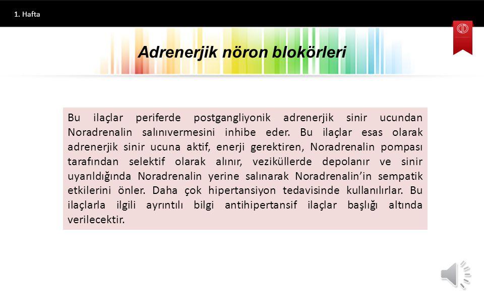 1. Hafta Labetolol Sentezi Beta Adrenerjik Reseptör Blokörleri