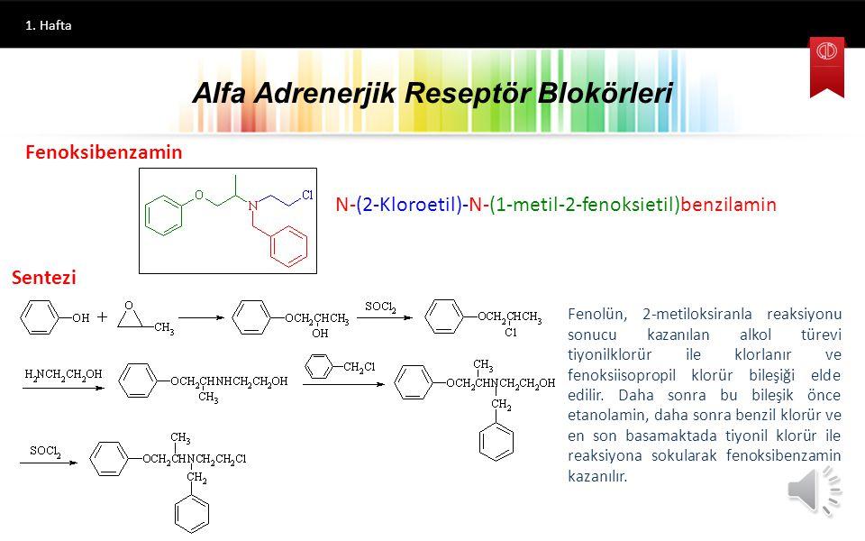 Alfa Adrenerjik Reseptör Blokörleri 1. Hafta En önemli etkileri damar düz kaslarını gevşetmeleri ve buna bağlı olarak kan basıncını düşürmeleridir. Ya